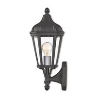 Livex 76182-14 Morgan 1 Light 14 inch Textured Black Outdoor Wall Lantern