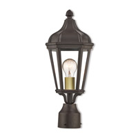 Livex 76184-07 Morgan 1 Light 18 inch Bronze Outdoor Post Top Lantern