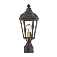 Livex 76184-07 Morgan 1 Light 18 inch Bronze Outdoor Post Top Lantern