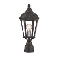 Livex 76184-14 Morgan 1 Light 18 inch Textured Black Outdoor Post Top Lantern