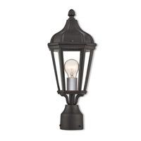 Livex 76184-14 Morgan 1 Light 18 inch Textured Black Outdoor Post Top Lantern