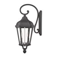 Livex 76186-14 Morgan 2 Light 24 inch Textured Black Outdoor Wall Lantern