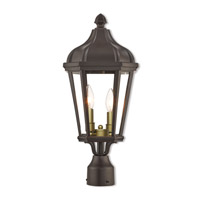 Livex 76188-07 Morgan 2 Light 21 inch Bronze Outdoor Post Top Lantern