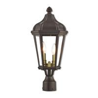 Livex 76188-07 Morgan 2 Light 21 inch Bronze Outdoor Post Top Lantern