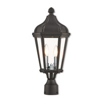 Livex 76188-14 Morgan 2 Light 21 inch Textured Black Outdoor Post Top Lantern
