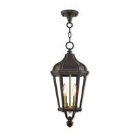 Livex 76189-07 Morgan 2 Light 9 inch Bronze Outdoor Pendant Lantern