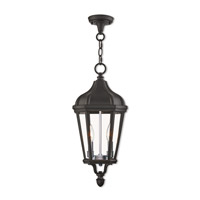 Morgan 2 Light 9 inch Textured Black Outdoor Pendant Lantern