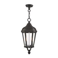Livex 76189-14 Morgan 2 Light 9 inch Textured Black Outdoor Pendant Lantern