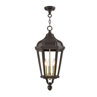 Livex 76193-07 Morgan 3 Light 11 inch Bronze Outdoor Pendant Lantern