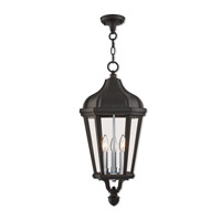 Morgan 3 Light 11 inch Textured Black Outdoor Pendant Lantern