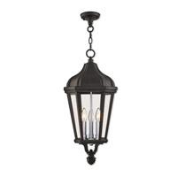 Livex 76193-14 Morgan 3 Light 11 inch Textured Black Outdoor Pendant Lantern