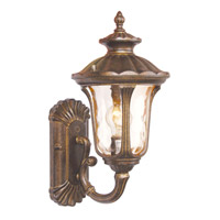 Livex 7650-50 Oxford 1 Light 16 inch Moroccan Gold Outdoor Wall Lantern