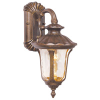 Livex 7651-50 Oxford 1 Light 16 inch Moroccan Gold Outdoor Wall Lantern