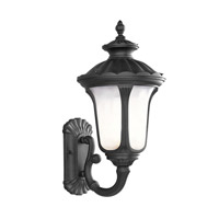 Livex Lighting Oxford 1 Light Outdoor Wall Lantern in Black 7652-04 photo thumbnail