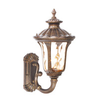 Livex 7652-50 Oxford 1 Light 18 inch Moroccan Gold Outdoor Wall Lantern