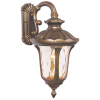 Livex 7653-50 Oxford 1 Light 19 inch Moroccan Gold Outdoor Wall Lantern