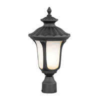 Livex Lighting Oxford 1 Light Outdoor Post Head in Black 7655-04