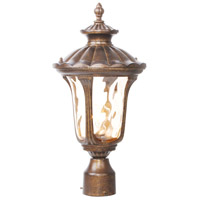 Livex Lighting Oxford 1 Light Outdoor Post Head in Moroccan Gold 7655-50