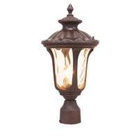 Livex 7655-58 Oxford 1 Light 22 inch Imperial Bronze Outdoor Post Head