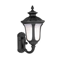 Oxford 1 Light 22 inch Black Outdoor Wall Lantern in Iced Cased