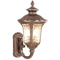Oxford 3 Light 22 inch Moroccan Gold Outdoor Wall Lantern