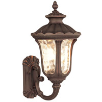 Livex 7656-58 Oxford 3 Light 22 inch Imperial Bronze Outdoor Wall Lantern
