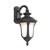 Livex Lighting Oxford 3 Light Outdoor Wall Lantern in Black 7657-04