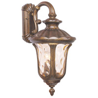 Livex Lighting Oxford 3 Light Outdoor Wall Lantern in Moroccan Gold 7657-50