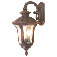 Livex 7657-58 Oxford 3 Light 22 inch Imperial Bronze Outdoor Wall Lantern