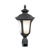 Livex Lighting Oxford 3 Light Outdoor Post Head in Black 7659-04