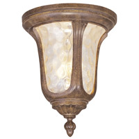 Livex Lighting Oxford 2 Light Outdoor Ceiling Mount in Moroccan Gold 7661-50