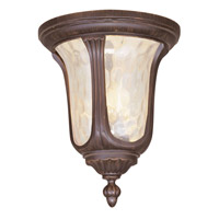Livex Lighting Oxford 2 Light Outdoor Ceiling Mount in Imperial Bronze 7661-58