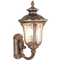 Livex 7662-50 Oxford 3 Light 28 inch Moroccan Gold Outdoor Wall Lantern