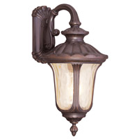 Livex 7663-58 Oxford 3 Light 28 inch Imperial Bronze Outdoor Wall Lantern