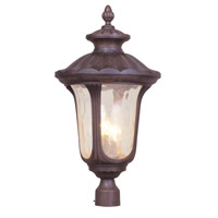 Livex 7664-58 Oxford 3 Light 27 inch Imperial Bronze Outdoor Post Head