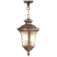 Livex 7665-50 Oxford 3 Light 14 inch Moroccan Gold Outdoor Hanging Lantern