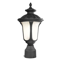Livex Lighting Oxford 1 Light Outdoor Post Head in Black 7667-04