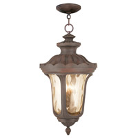Livex Oxford 4 Light Outdoor Chain Hang Lantern  in Imperial Bronze 76703-58