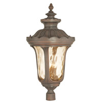 Livex 76704-58 Oxford 4 Light 33 inch Imperial Bronze Outdoor Post Light