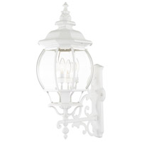 Livex Lighting 7701-13 Frontenac 4 Light 29 inch Textured White Outdoor Wall Lantern