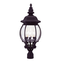 Livex 7703-04 Frontenac 4 Light 28 inch Black Outdoor Post Head