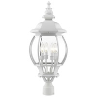 Livex Lighting 7703-13 Frontenac 4 Light 27 inch Textured White Outdoor Post Top Lantern