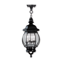 Livex Lighting Frontenac 4 Light Outdoor Hanging Lantern in Black 7705-04