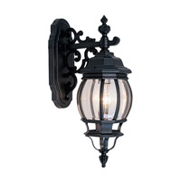 Livex Lighting Frontenac 1 Light Outdoor Wall Lantern in Black 7706-04