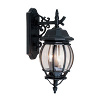 Livex Lighting Frontenac 3 Light Outdoor Wall Lantern in Black 7707-04