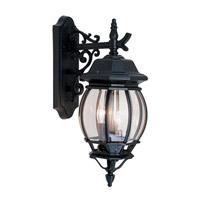 Livex 7707-04 Frontenac 3 Light 22 inch Black Outdoor Wall Lantern