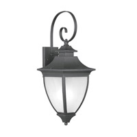 Livex Lighting Hillsdale 1 Light Outdoor Wall Lantern in Black 7723-04 photo thumbnail
