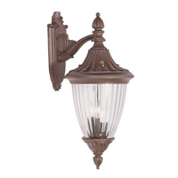 Livex Lighting Townsend 3 Light Outdoor Wall Lantern in Imperial Bronze 7784-58