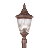 Livex Lighting Townsend 3 Light Outdoor Post Head in Imperial Bronze 7787-58