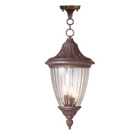 Livex Lighting Townsend 3 Light Outdoor Hanging Lantern in Imperial Bronze 7788-58